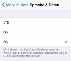 iOS 8.1 2G Edge