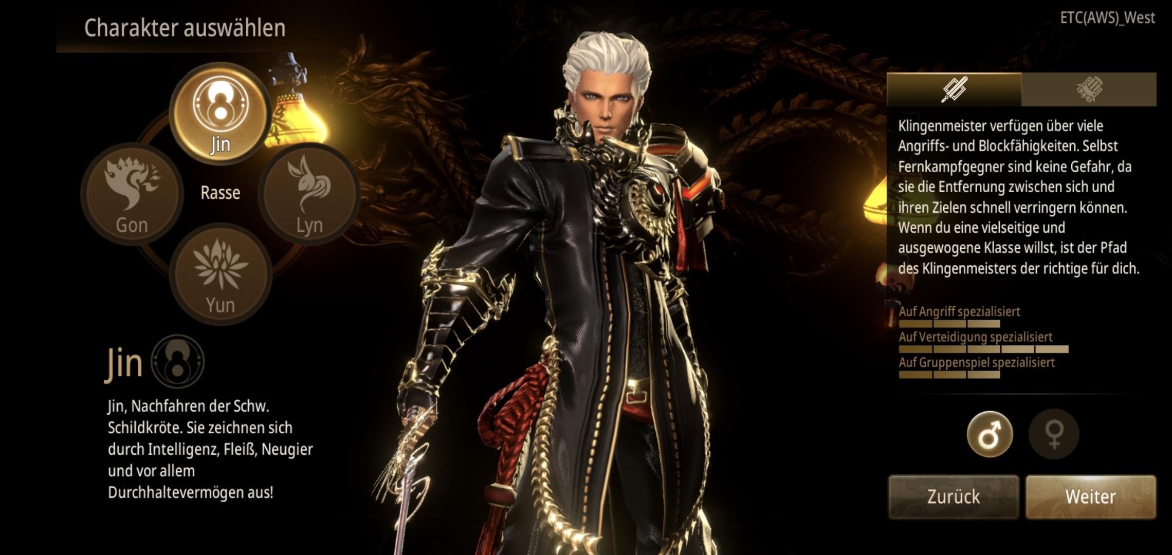 Blade&Soul Revolution Charaktererstellung