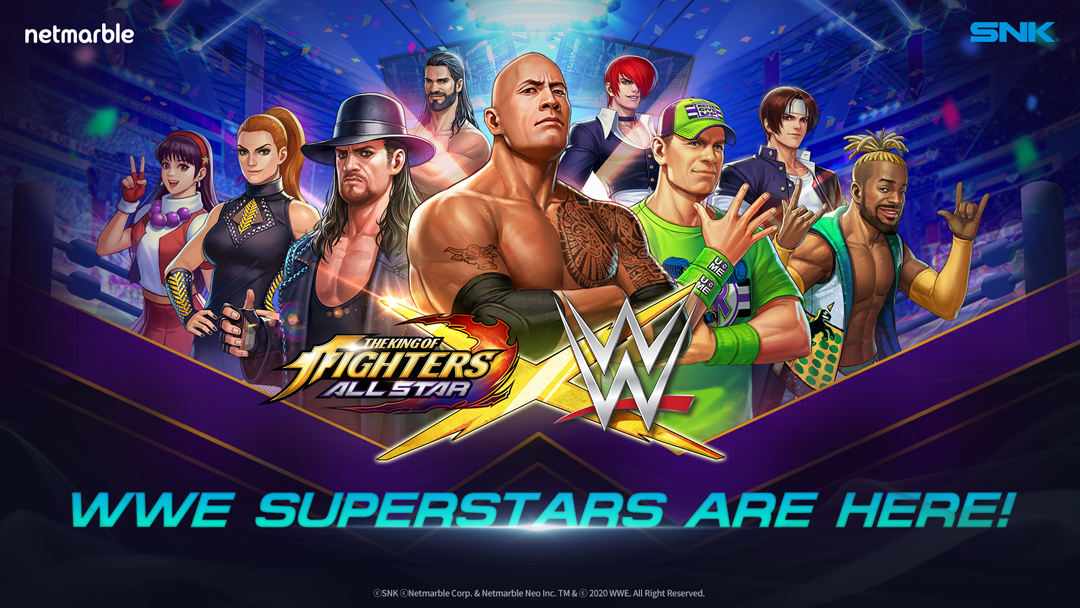 The King of Fighters Allstar + WWE-Superstars