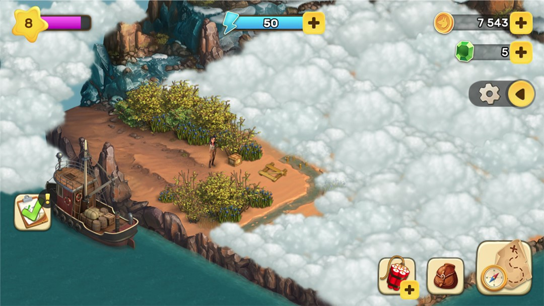 Klondike Adventures Screenshot Nebel