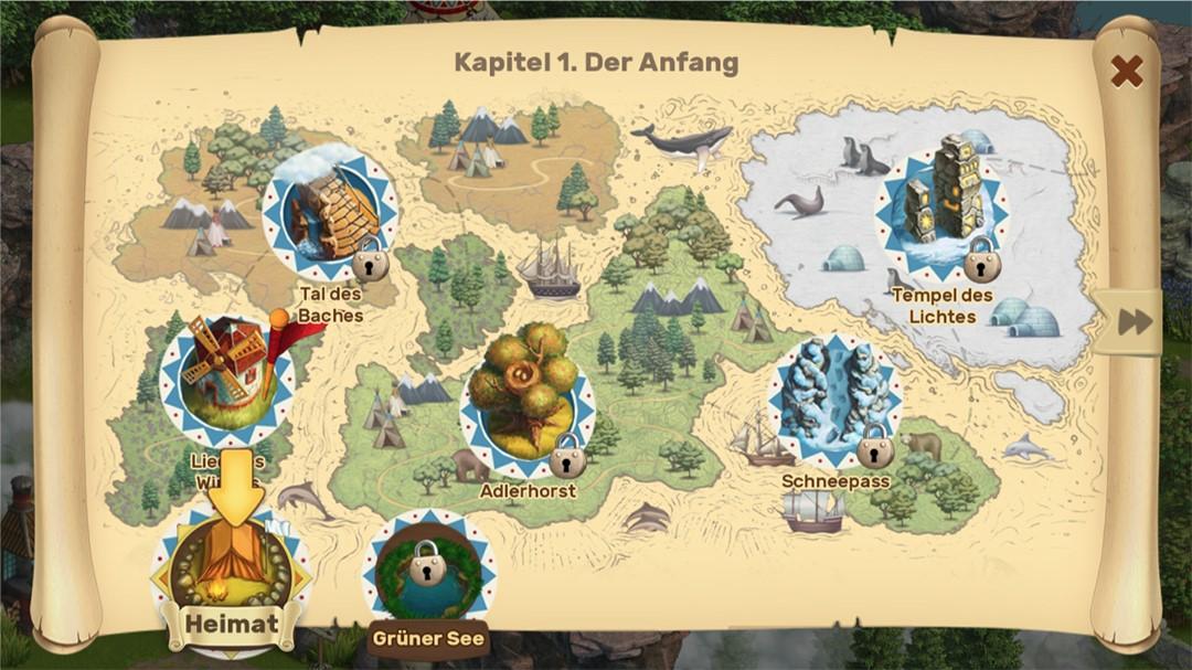 Klondike Adventures Screenshot Karte