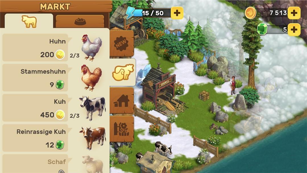Klondike Adventures Screenshot Markt