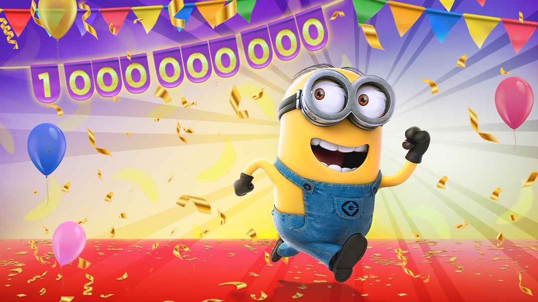Minion Rush 1 Mrd Downloads