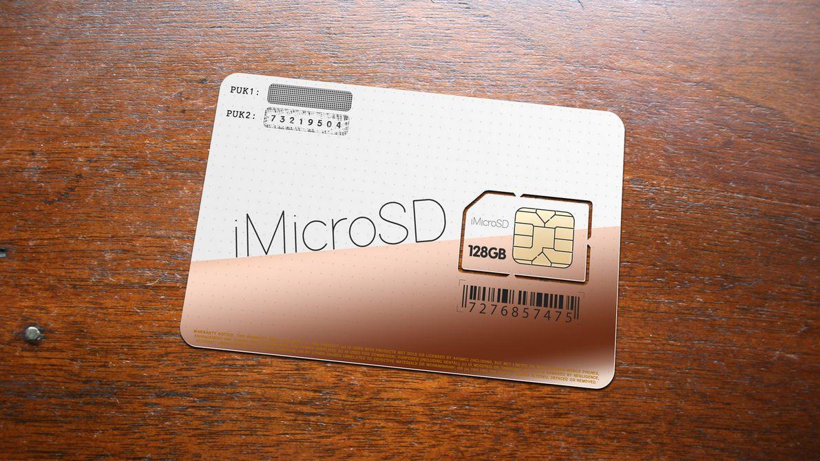microSD in iPhone