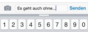 iOS 8 Wortvorschläge
