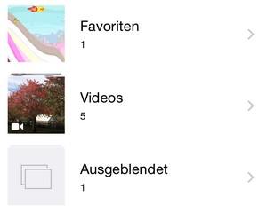 iOS 8 Versteckte Bilder