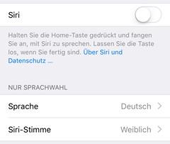 iOS 9 Sprachwahl Siri