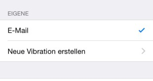 iOS Eigene Vibration