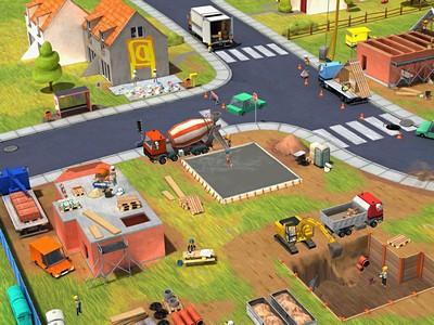 Kleine Bauarbeiter Spielwelt