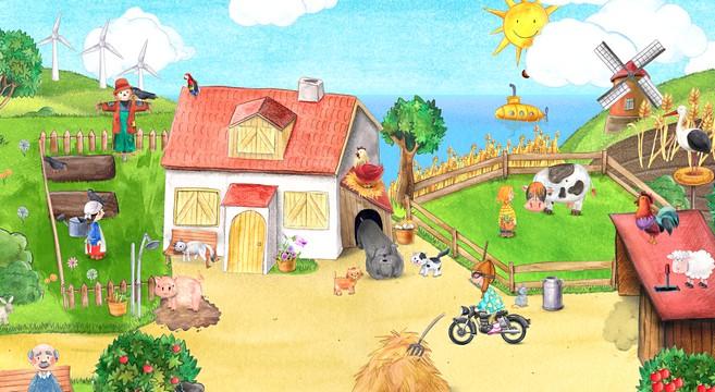 Für Kinder: Mein Bauernhof – Wimmelbuch-App für Landeier und Stadtrabauken