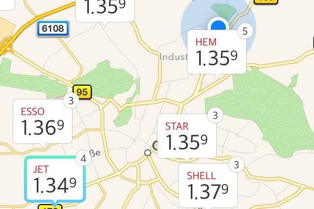Download-Tipp: Mit Spritradar schnell Benzinpreise vergleichen